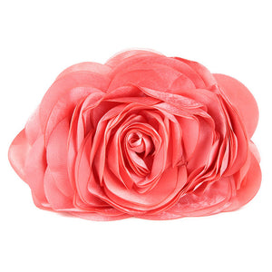 Ruched Flower Minaudiere Clutch Bag