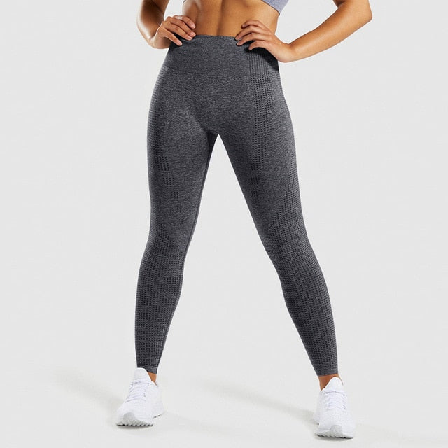 Seamless High Waist Stretch Fitness Leggings