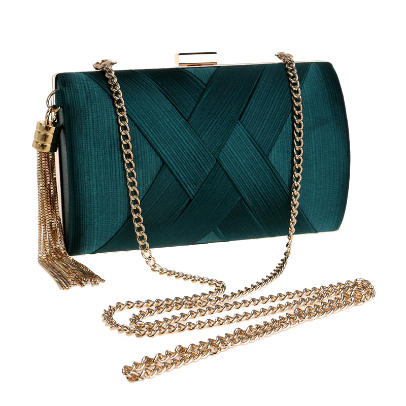 Small Bow Metal Tassel Chain Shoulder Bag