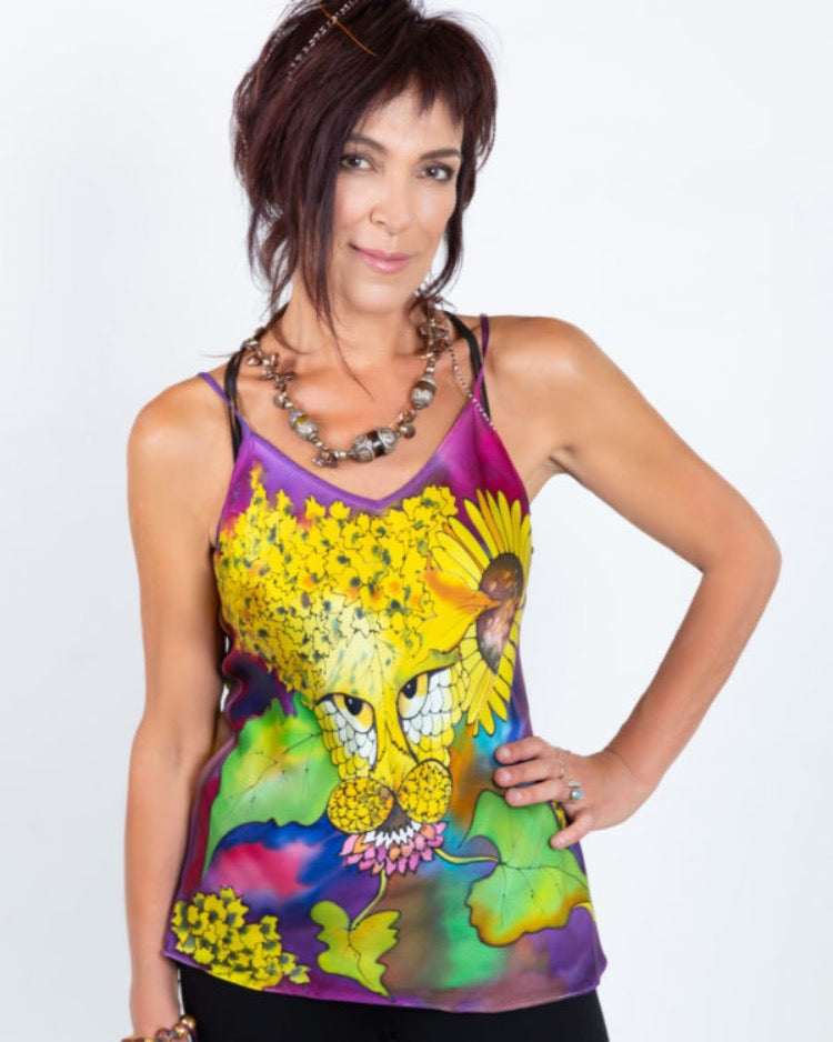 Silk-Camisole Tiger