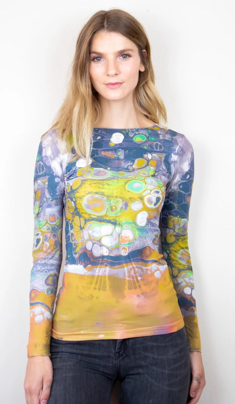 Art Odyssey Second Skin Top Yellow