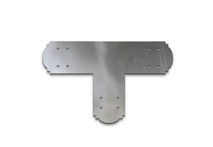 Decorative Design T Bracket for 4x4 Post, 4 Inch T Bracket Bolt Plate, T Support Bracket, Steel Bracket, 4 inch, Center Bracket, Truss Plate