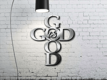 Load image into Gallery viewer, God is Good / Religious Wall Art / Christian Wall Art / Faith Wall Art / Metal Cross