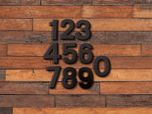 6 inch Modern Metal House Numbers / Metal Address Numbers / Metal Street Address Numbers