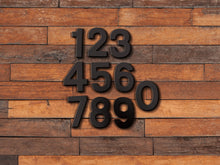 Load image into Gallery viewer, 3 inch Modern Metal House Numbers / Metal Address Numbers / Metal Street Address Numbers