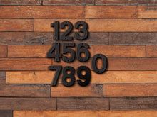 Load image into Gallery viewer, 6 inch Modern Metal House Numbers / Metal Address Numbers / Metal Street Address Numbers
