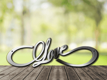 Load image into Gallery viewer, Infinity Love Metal Sign / Wedding Gift / Anniversary Gift / Love Forever Infinity