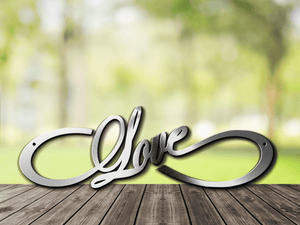Infinity Love Metal Sign / Wedding Gift / Anniversary Gift / Love Forever Infinity