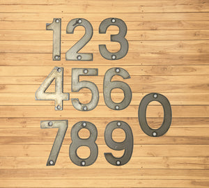 5 inch Modern Metal House Numbers / Metal Address Numbers / Metal Street Address Numbers