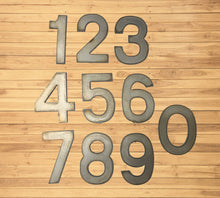 Load image into Gallery viewer, 7 inch Modern Metal House Numbers / Metal Address Numbers / Metal Street Address Numbers