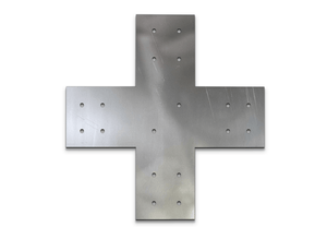 "Structural Design X Bracket for 8"" Post, 8x8 Bolt Plate, 8 Inch X Support Bracket, Pergola Bracket, 8 inch Cross Bracket 