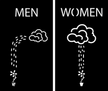 Load image into Gallery viewer, Restroom Sign Bathroom Sign Men Women Cloud