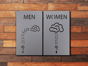 Restroom Sign Bathroom Sign Men Women Cloud