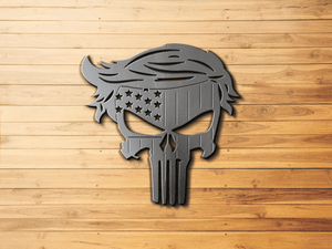 Trump Punisher Metal Sign Wall Hanging Trump 2020 , Political Art