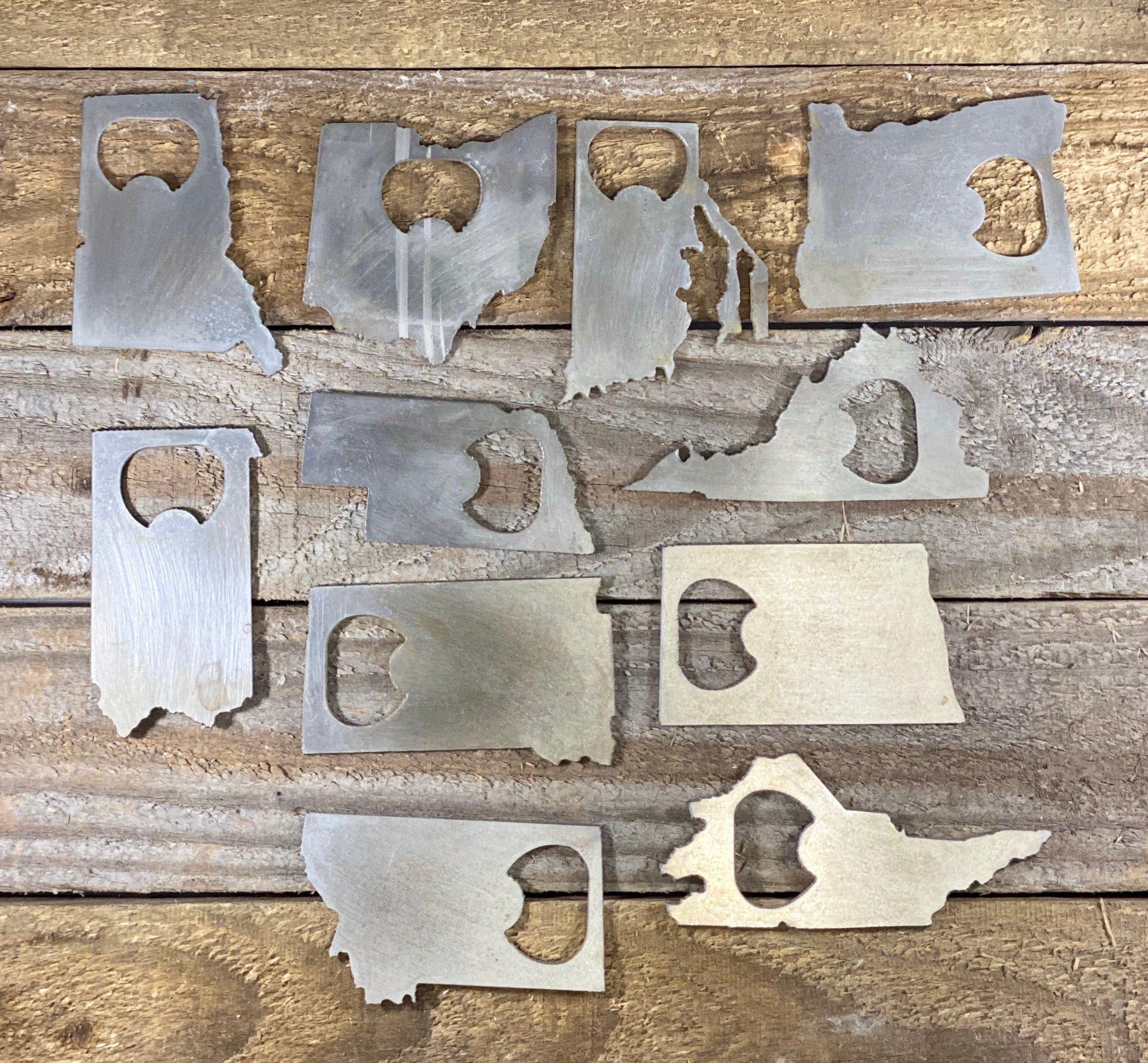 Raw Steel Rustic Home Decor Choose Your State Bottle Opener Groomsmen Gift Kitchen Tool Wedding Party Favor