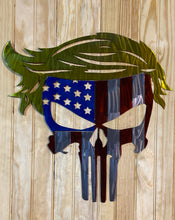 Load image into Gallery viewer, Trump Punisher Metal Sign Wall Hanging Trump 2020 , Political Art