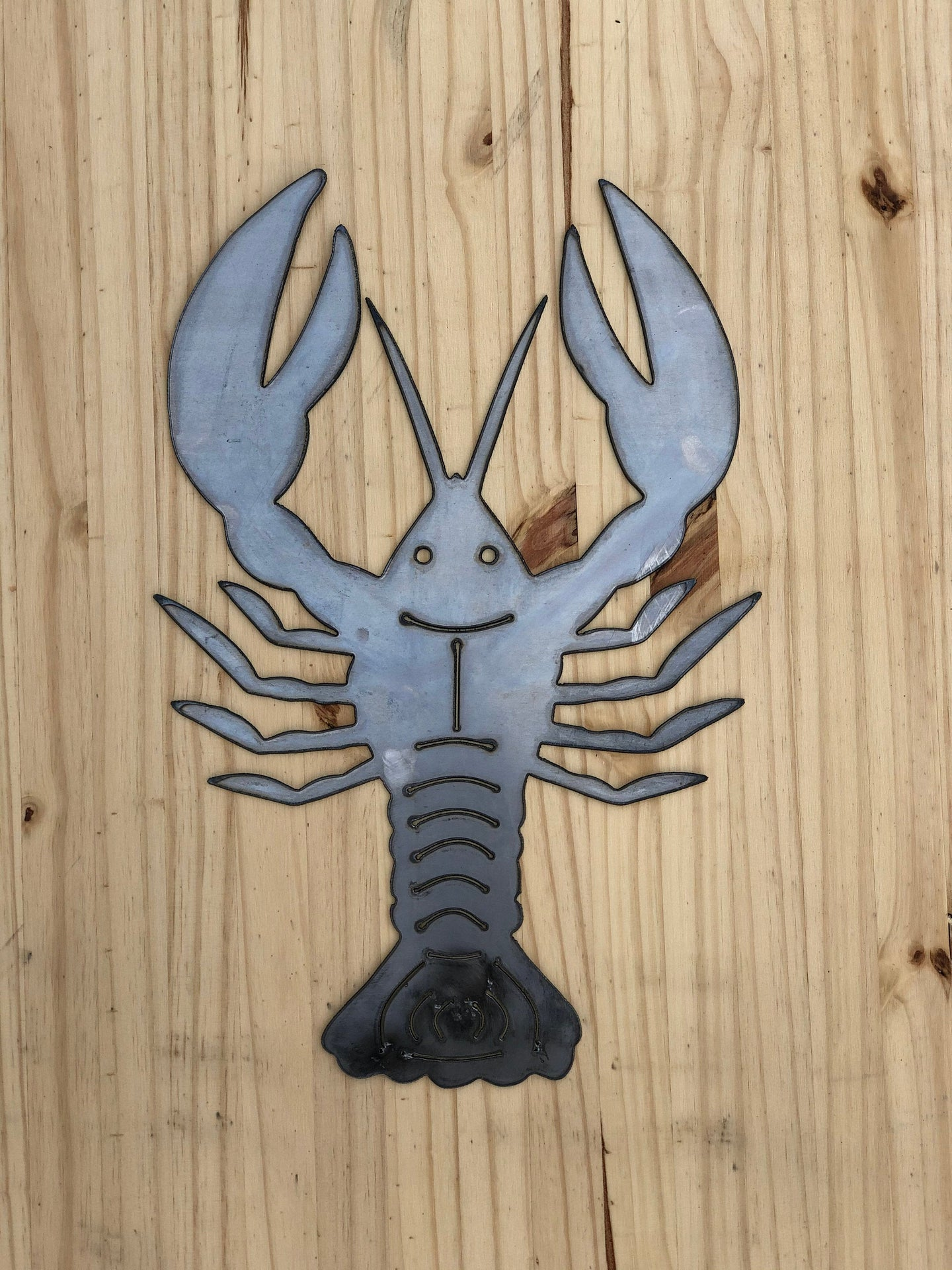 Metal Crawfish Wall Hanging Decoration | Crawfish Steel Sign