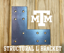 Load image into Gallery viewer, Structural Design L Bracket for 6x6 Post, 6x6 L Support Bracket, 6x6 Steel Bracket, 6 inch Post Bracket, 6x6 L Bracket, Truss Plate