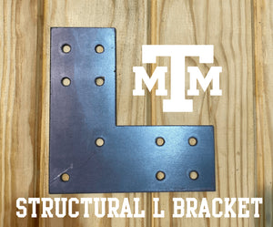 Structural Design L Bracket for 6x6 Post, 6x6 L Support Bracket, 6x6 Steel Bracket, 6 inch Post Bracket, 6x6 L Bracket, Truss Plate