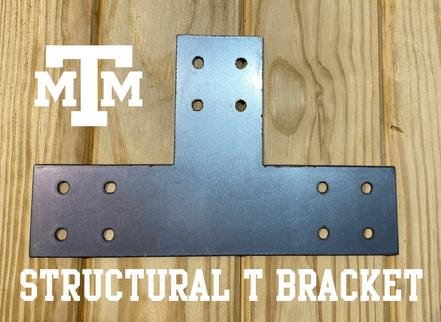 Structural Design T Bracket for 4x4 Post, 4 Inch T Bracket Bolt Plate, T Support Bracket, Steel Bracket, 4 inch, Center Bracket, Truss Plate