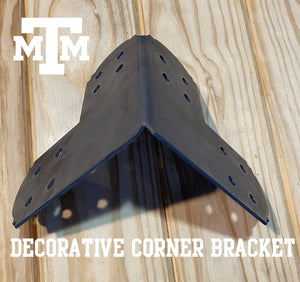Decorative Design Corner Bracket for 6x6 Post, 6x6 Corner Support Bracket, 6x6 Steel Bracket, 6 inch Post Bracket, 6x6 Corner Bracket