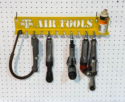 Air Tool Holder Rack With Oil Holder | Air Tool Organizer | Customizable