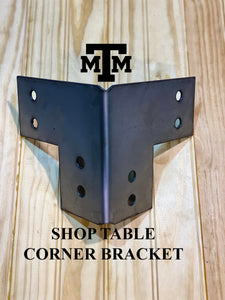 DIY Shop Table | Workbench Heavy Duty 4x4 Corner Brackets for 4 x 4 Posts | Made In the USA!