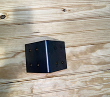 "Load image into Gallery viewer, 90 Degree Angle Bracket for 8"" Wood Post, 8x8 Angle Bracket, Wood Post Bracket, Angle Support Bracket, Pergola Bracket 