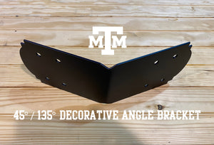 Octagonal Angle Bracket Decorative Design for 6x6 Post, 6x6 Pergola Bracket, Octagon Angle Bracket