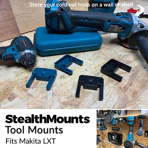 Stealth Mounts Tool Mounts for Makita Tools - Makita Tool Mount | Makita Tool Holder | Makita LXT Tool Mount