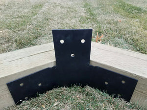 12 Piece Hexagon Pergola Bracket Set for 6 x 6 Posts - Heavy Duty Pergola Brackets Made In the USA!
