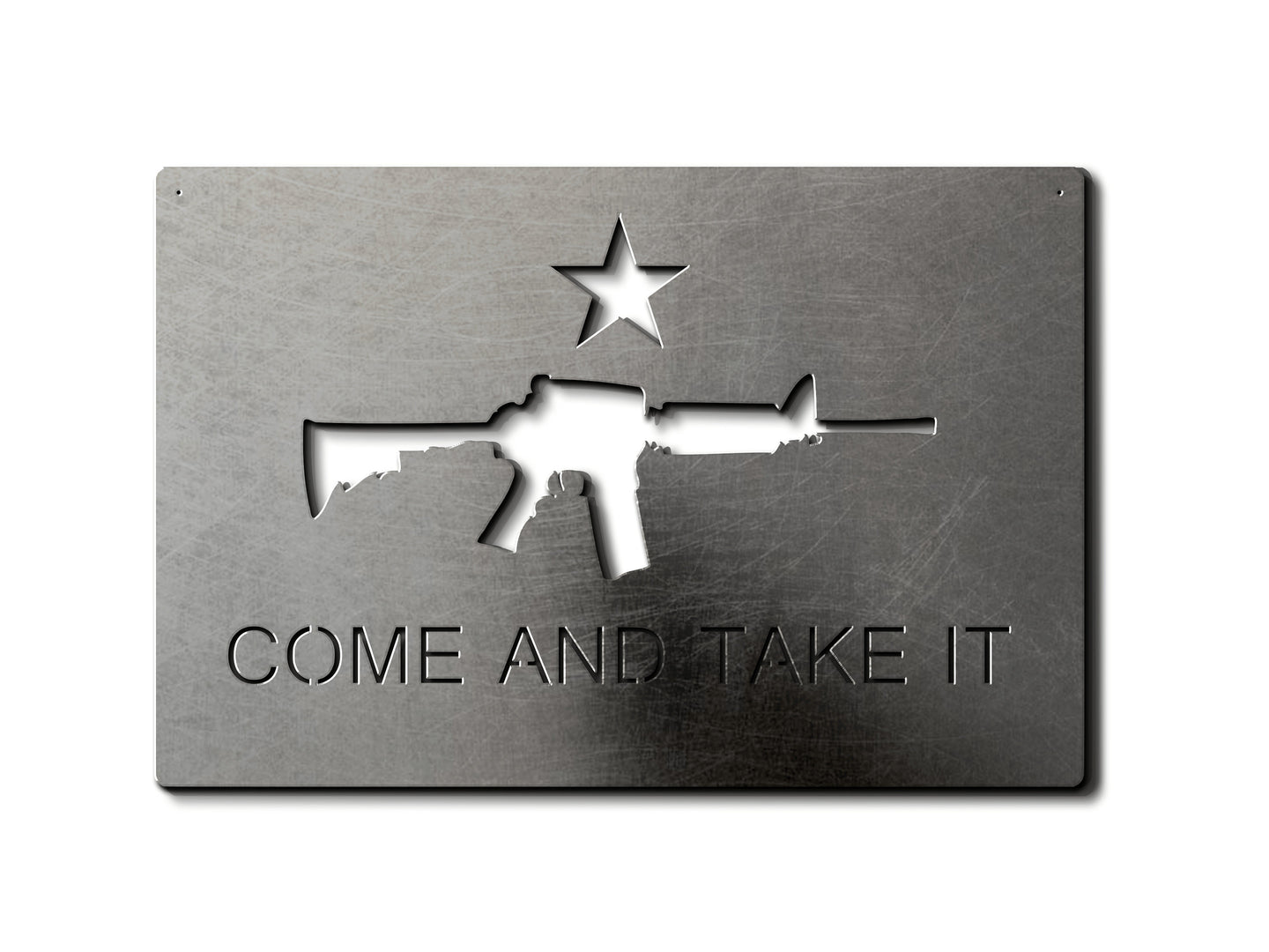 Come and Take it AR-15 Metal Flag Custom Gun Metal Wall Art 24