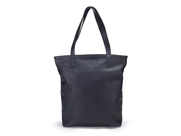 Leather Shopper Bag / Blue
