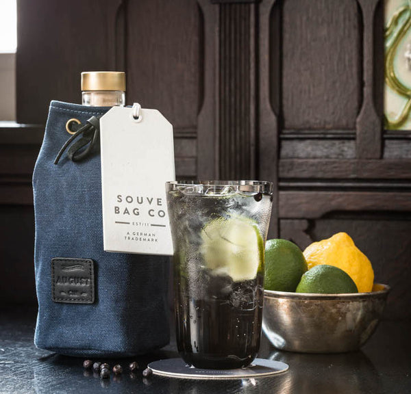 "Canvas Gin Bottle Bag ""Souve x August Gin"" - Limited Edition"