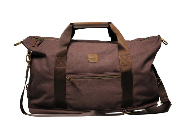 """Sydney"" Canvas Weekender / Brown"