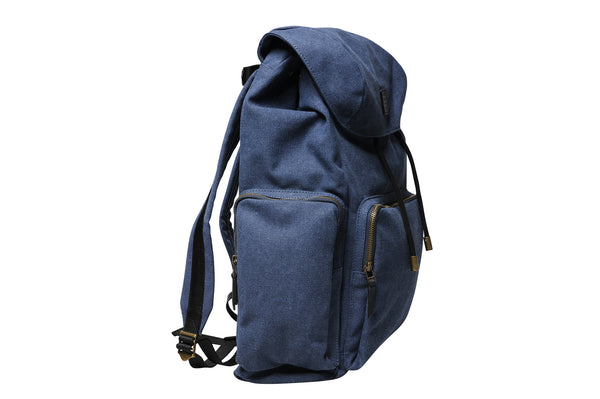 """Zermatt"" Canvas Hiking Backpack / Blue"