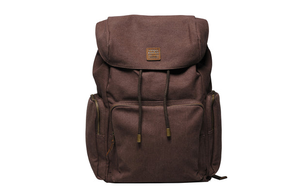 """Zermatt"" Canvas Hiking Backpack / Brown"