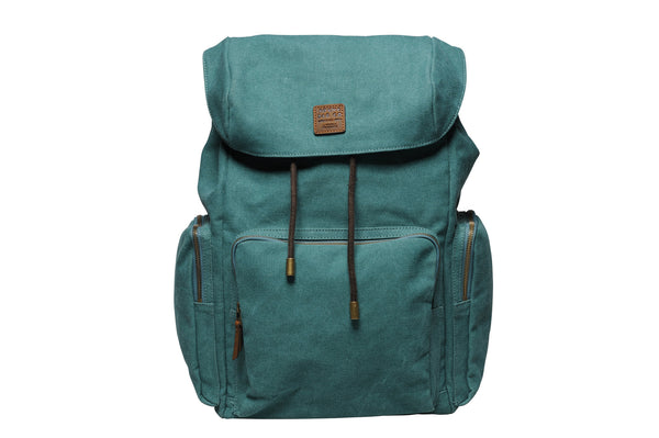 """Zermatt"" Canvas Hiking Backpack / Petrol"