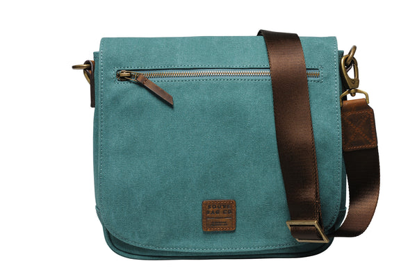 """Venice"" Canvas City Bag / Petrol"