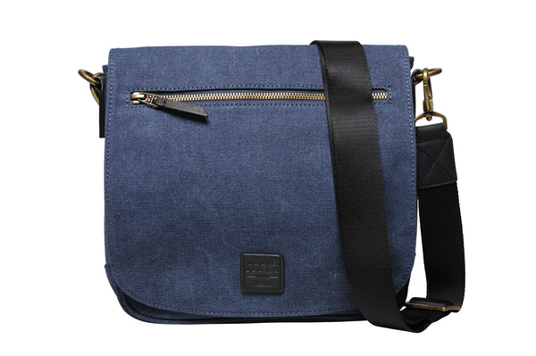 """Venice"" Canvas City Bag / Blue"