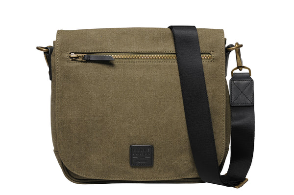 """Venice"" Canvas City Bag / Olive"
