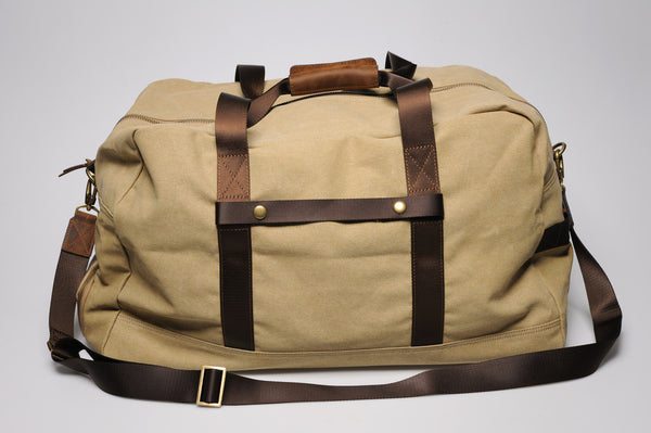 """Vancouver"" Canvas Travel Bag Large / Sand"
