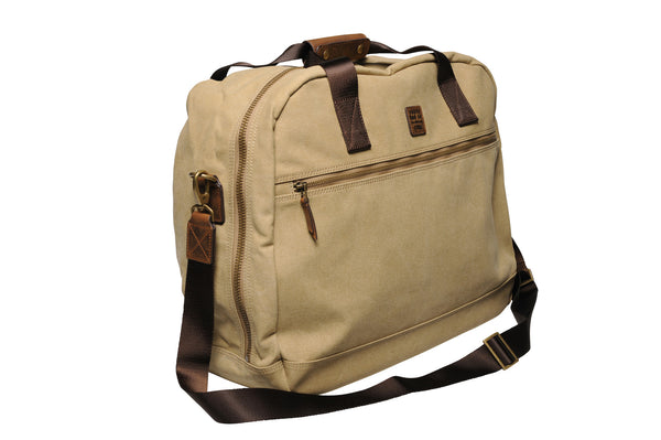"""Singapore"" Canvas Travel Bag Regular / Light Sand"