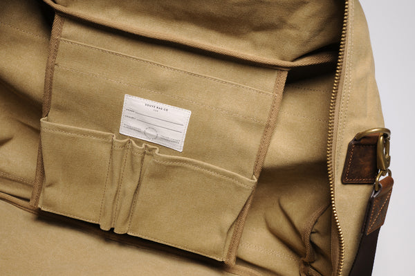 """Singapore"" Canvas Travel Bag Regular / Sand"