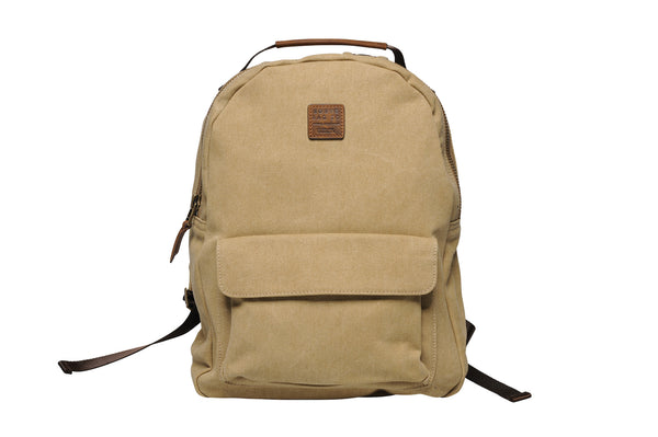 """Berlin"" Canvas Regular Backpack / Sand"
