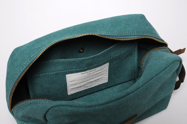 """Paris"" Canvas Wash Bag / Petrol"