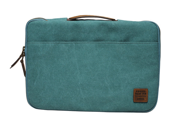 """Dublin"" Canvas Macbook Sleeve 13"" / Petrol"