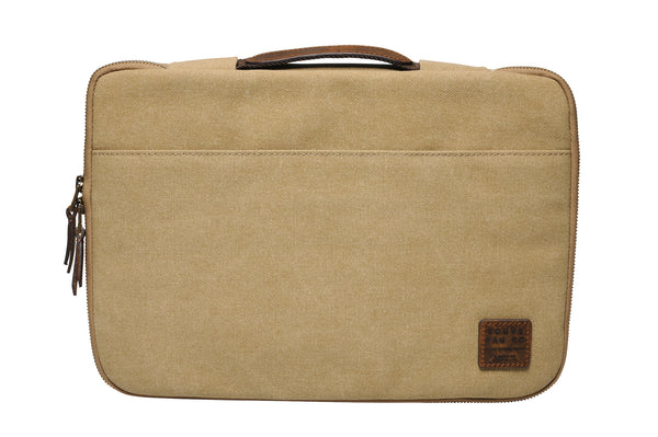 """Seoul"" Canvas Macbook Sleeve 15"" / Sand"