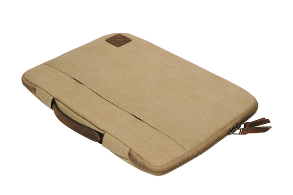 """Dublin"" Canvas Macbook Sleeve 13"" / Sand"