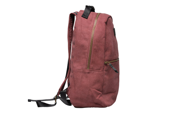 """Berlin"" Canvas Backpack / Bordeaux"
